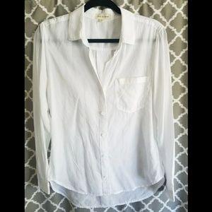 Cloth & Stone Sz S White Button Down Top